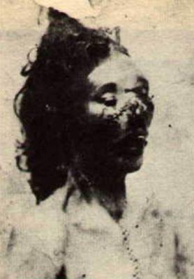 Jack Rozparovač fotky zavražděných žen: Catherine Eddowes - zavražděna 30. září 1888
