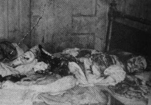 Jack Rozparovač fotky zavražděných žen: Mary Kelly - zavražděna 9. listopadu 1888